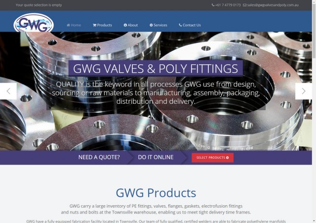 GWG Valves and Poly Fittings